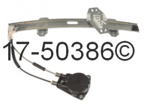 Honda Civic Window Regulator Only 17-50386 AN
