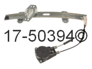 Honda Civic Window Regulator Only 17-50394 AN